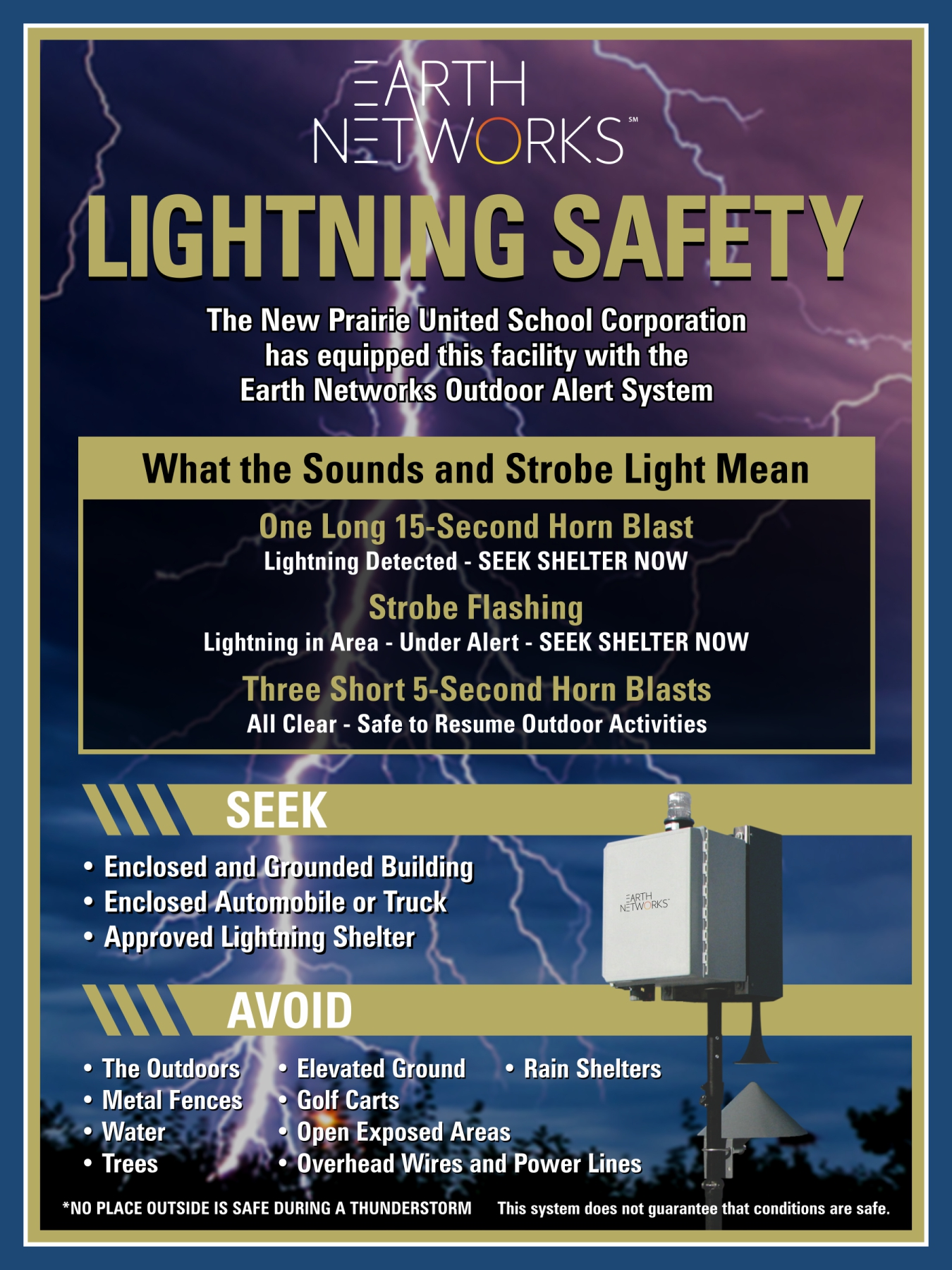 The Earth Networks lighting safety system is now complete!
