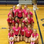 Varsity Volleyball Sweeps South Central on Pink Out Night!