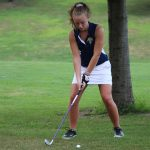LADY COUGAR GOLFERS SPLIT CONFERENCE MATCHES