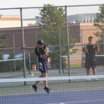 New Prairie boys Varsity tennis beats South Bend Riley  5-0
