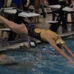 Girls Varsity Swimming falls to LaPorte 113 – 73