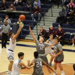 Boys Varsity Basketball falls to Jimtown 55 – 44