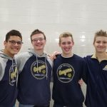 Boys Varsity Swimming beats Mishawaka 113 – 72