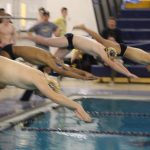 Boys Varsity Swimming beats Goshen and East Noble