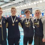Boys Varsity Swimming finishes 4th place at NIC Boys Swimming Championships