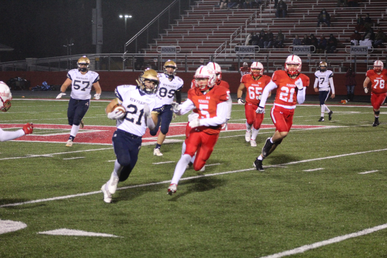 Varsity Football @ IHSAA Sectional vs. Plymouth 10/23/20  (Photo Gallery)