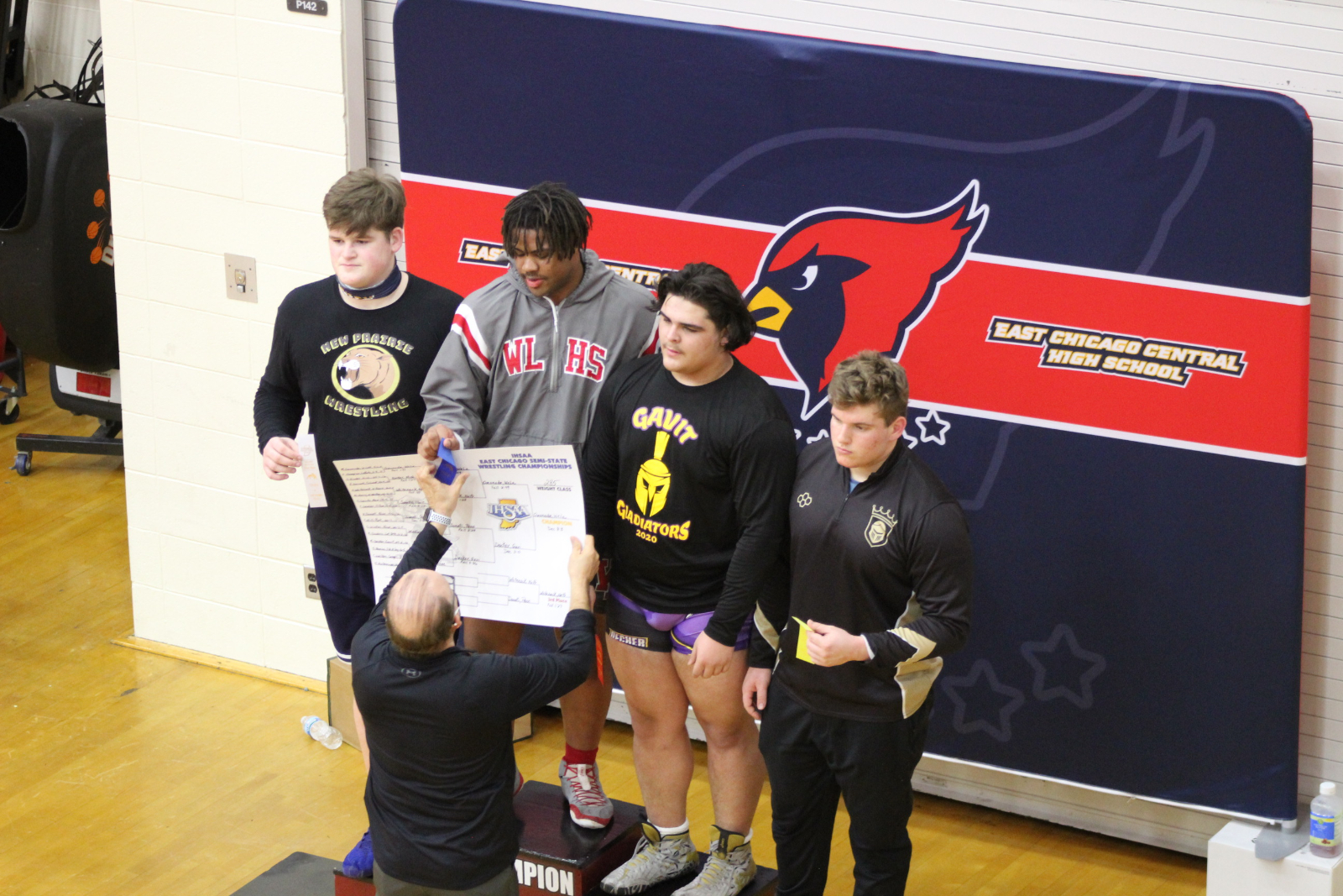 Wrestling @ IHSAA Semi-State  2/13/21 (Photo Gallery)