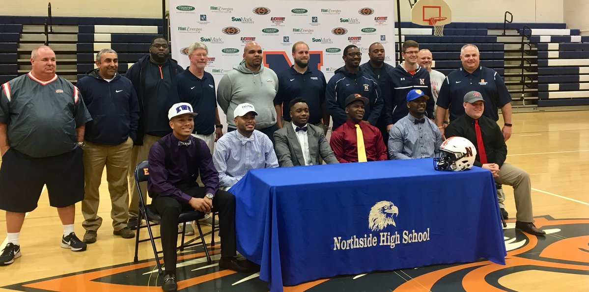 Proud of all our Seniors who signed to play college football! It's Great to Be A Northside Eagle!