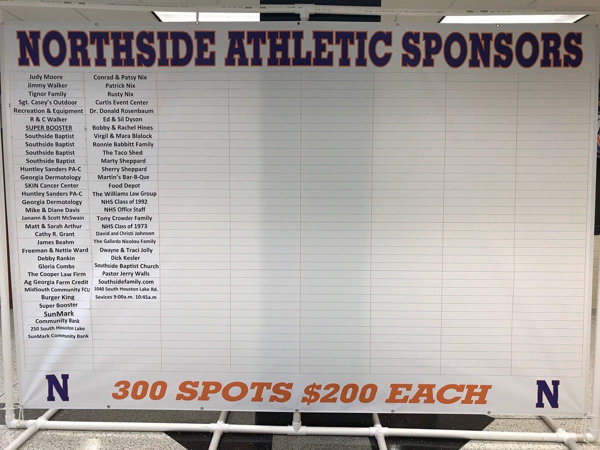 Northside Athletic Sponsors