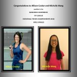 Congratulations to Allison Cocker and Michelle Wang