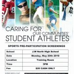 Pre-Participation Sports Clinic on May 20th