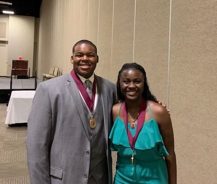 Will Smith and Tyzajahanae Calhoun-Fuller Honored as North Athlete's of Year