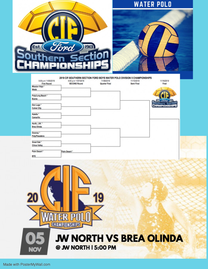 League Champion Boys Water Polo to host first round CIF match