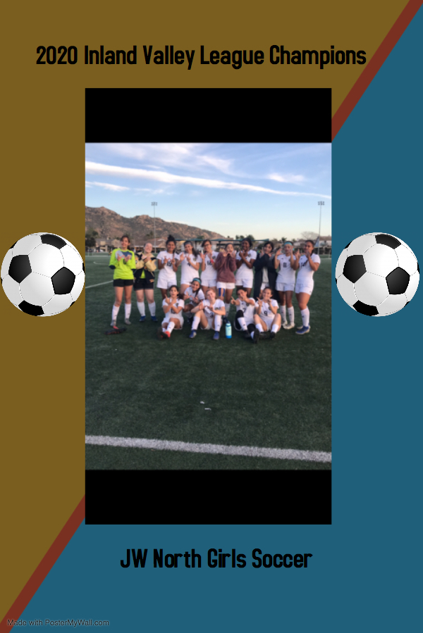 League Champion JW North Girls Soccer