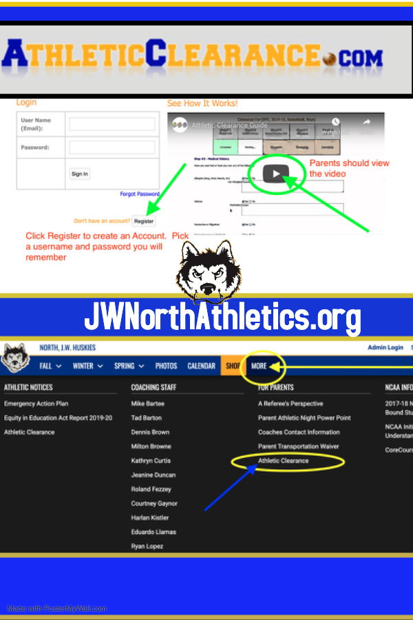 Athletic Clearance is now On-line!