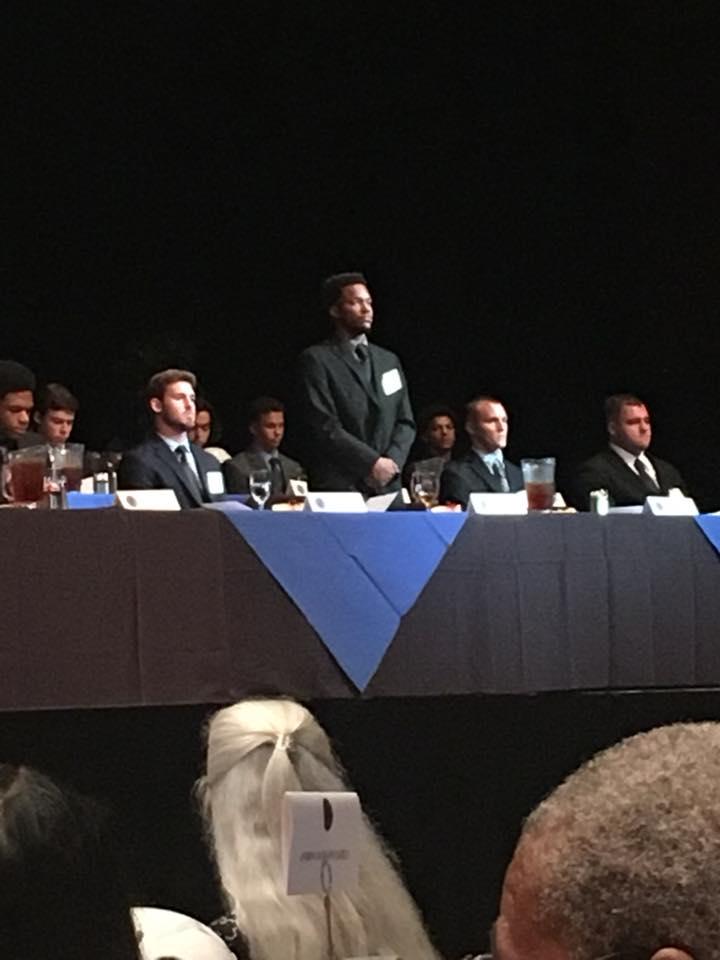 William Norwood receives 1st Andrew Jackson Memorial Scholarship Award