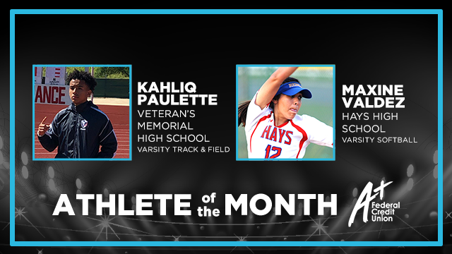 And the April Athletes of the Month are…