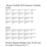 Football Summer Conditioning and Try Out Information