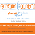 Reservation Celebration Ticket Sales Open September 4th