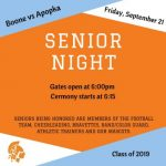 Friday Night Senior Night Versus Apopka