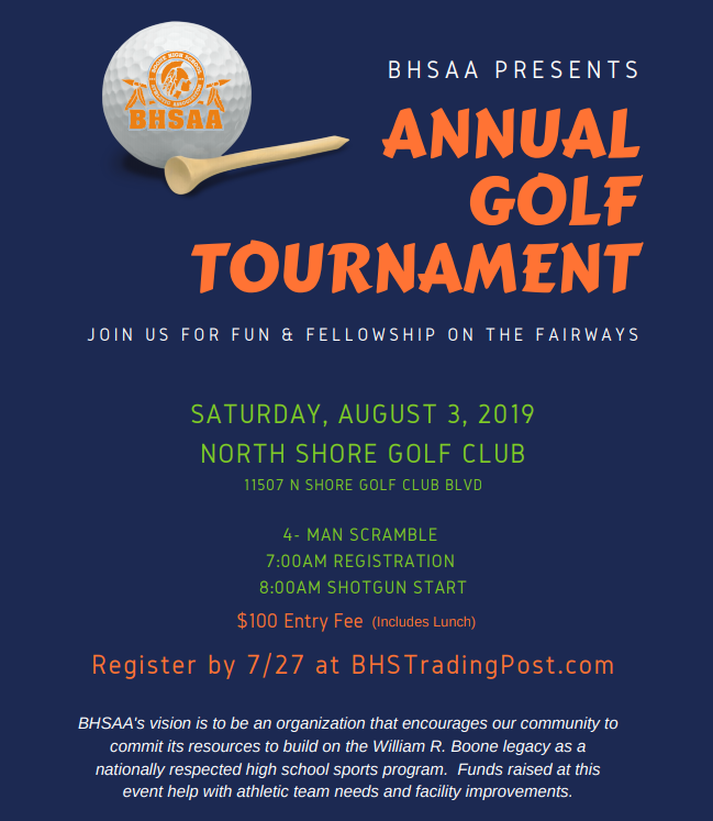 BHSAA GOLF TOURNAMENT: Make a Team and Support Boone Athletics!