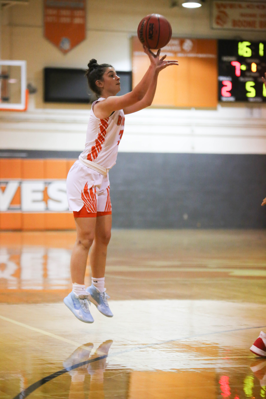 Congratulations Maddy Morales for scoring her 1000th point last night!