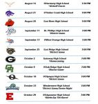 2020 Football Schedules