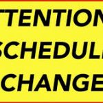 Schedule Change – Varsity Plays at 5:30 on Friday