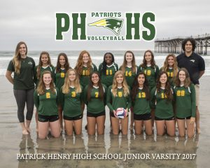 2017 JV Girls Volleyball Team Pictures