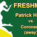 Girls Freshman Volleyball Away Match vs Coronado