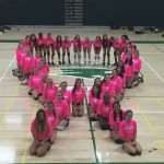 Girls VB Honors Breast Cancer Awareness