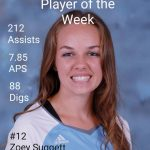 Alumni Z. Suggett Player of the Week!