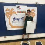 T. Markowitz brings home Badminton trophy!
