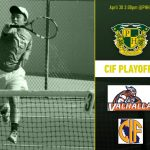 Boys Tennis host 1st round of CIF Tuesday!
