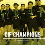 Badminton brings home gold in CIF individuals!