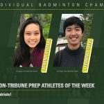 L. Taing and A. Aguilar U-T Prep Athletes of the Week!