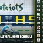 2019 Girls Volleyball Schedule!