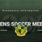 Women's Soccer Preseason Meeting