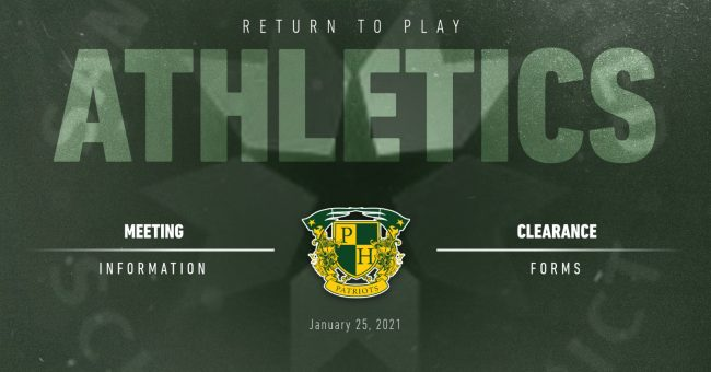 February Return to Play Athletics Information