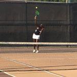 Serra High School Girls Varsity Tennis beat Christian High School 14-4