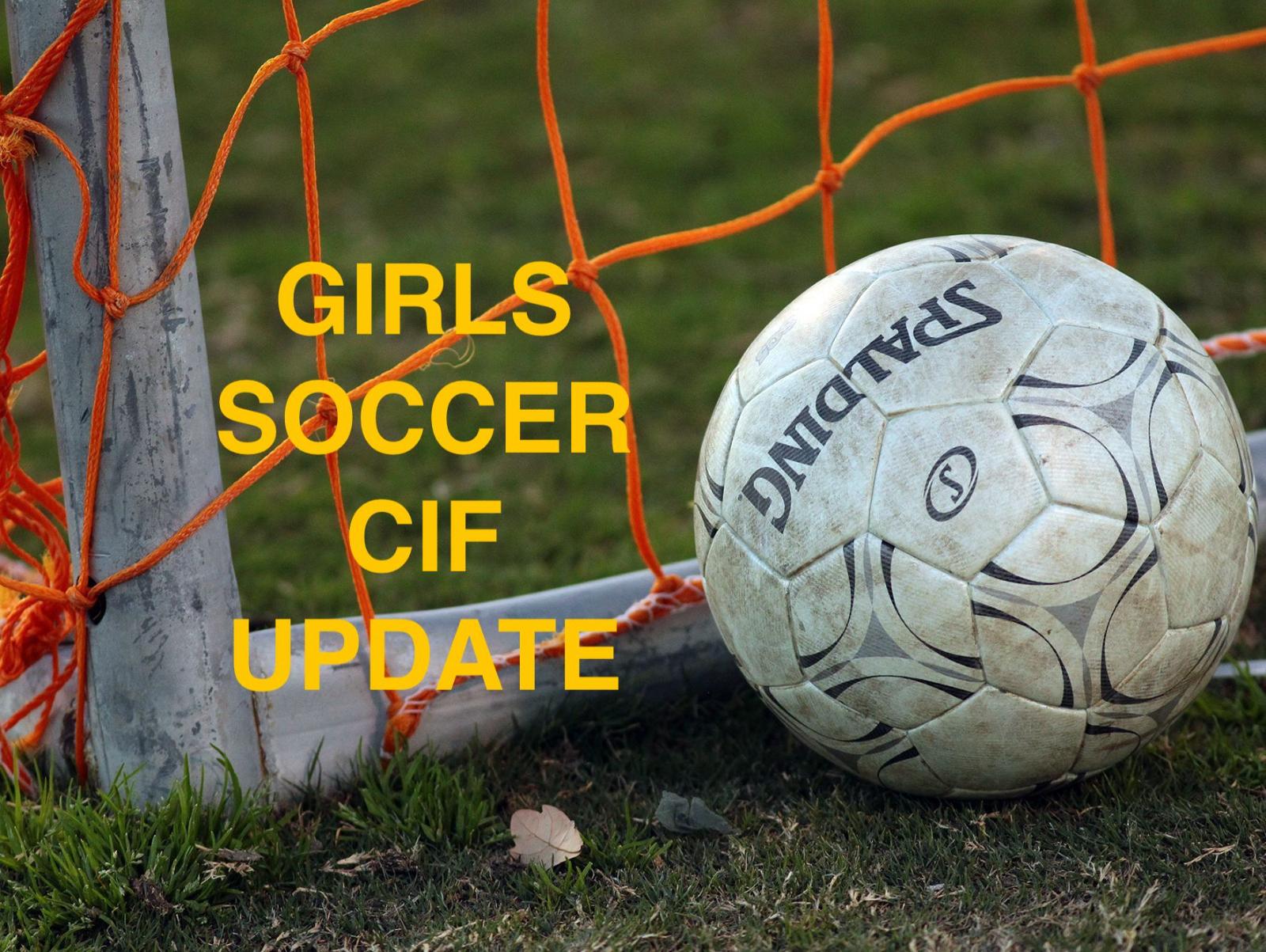 Soccer CIF Update
