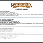 Serra Athletics Fall Update