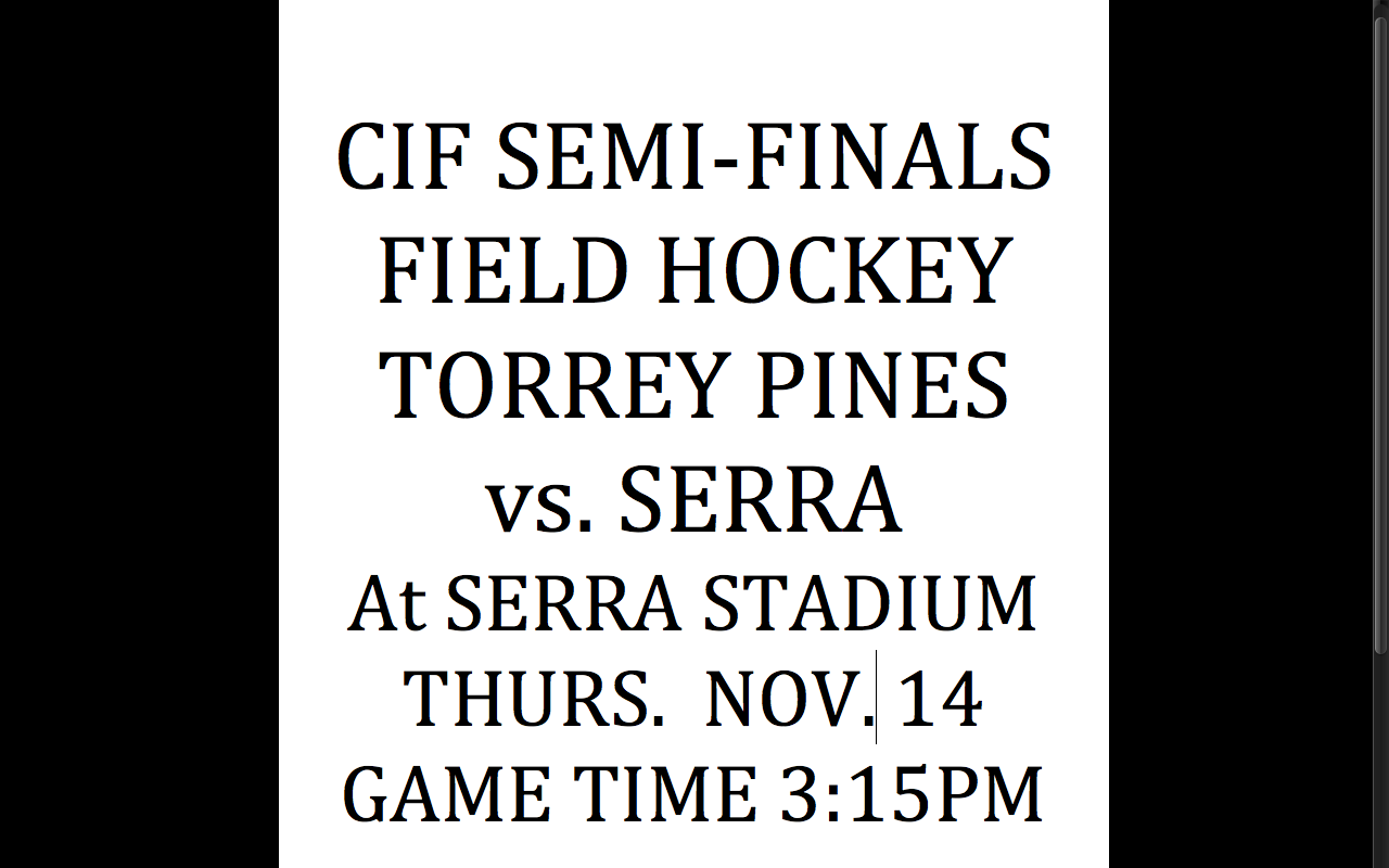 Field Hockey CIF Semi-Finals