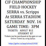 CIF FIELD HOCKEY CHAMPIONSHIPS
