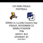 CIF SEMI-FINALS FOOTBALL FRIDAY!