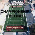 CIF Championship Game Timeline