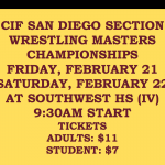 SERRA WRESTERS GO TO CIF MASTERS