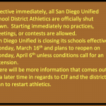 Athletics update March 13