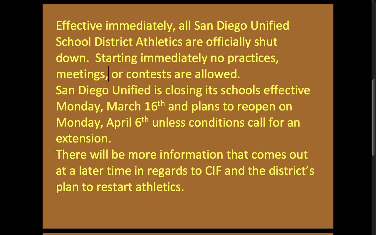 Athletics update March 13