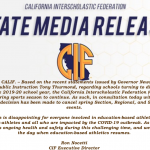 CIF STATE MEDIA RELEASE